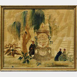Framed Silk Embroidered Memorial