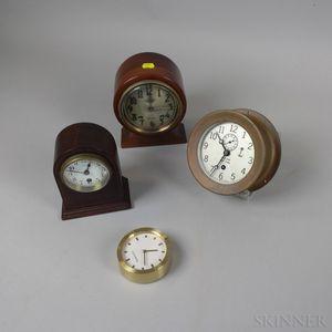 Four Desk Clocks