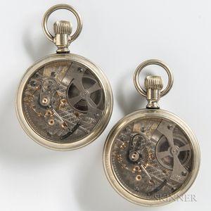 """Two Hamilton """"940"""" Partially Skeletonized Open-face Watches"""