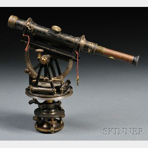 Oxidized and Lacquered Brass Surveyor's Transit