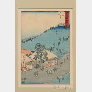 Hiroshige (1797-1858) Woodblock Print