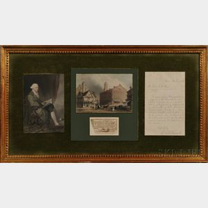 Hancock, John (1737-1793) Lottery Ticket, Signed, June 1765.