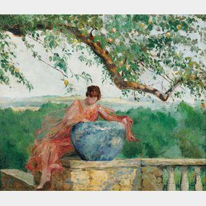 Margaret W. Lesley Bush-Brown (American, 1857-1944)      The Blue Jar