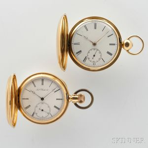 Two 18kt Gold Hunter Case Watches