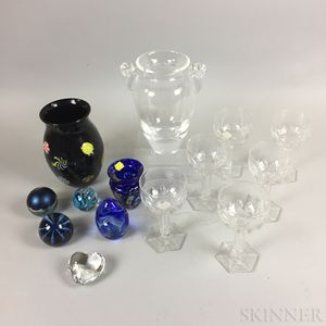 Group of Glassware and Paperweights