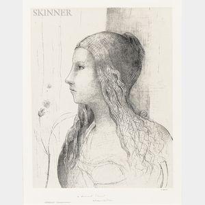 Odilon Redon (French, 1840-1916)      Brunnhilde (Crépuscule des dieux)