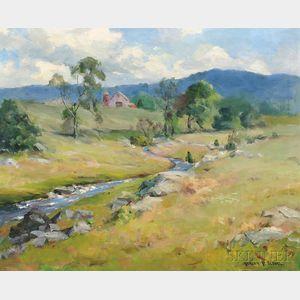 Marian P. Sloane (American, 1876-1954)      Brook in Pownal, Vermont