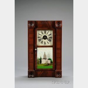 Empire Mahogany Shelf Clock by Chauncey Jerome