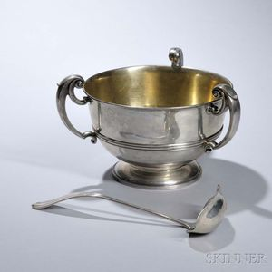Meriden Britannia Sterling Silver Three-handled Punch Bowl