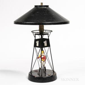 Painted Johnnie Walker Buoy Advertising Lamp