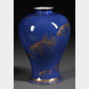 Wedgwood Powder Blue Lustre Fish Vase