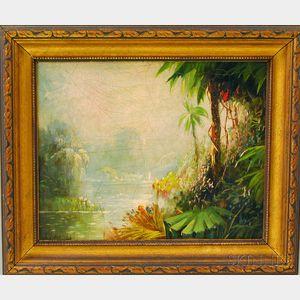 J.S. Dickinson (American, 19th Century)      Tropical Scene
