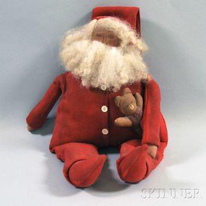 Painted Cloth Santa Claus Doll
