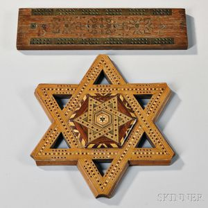 Two Inlaid Cribbage Boards