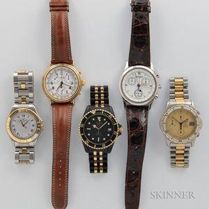 Five Quartz Wristwatches