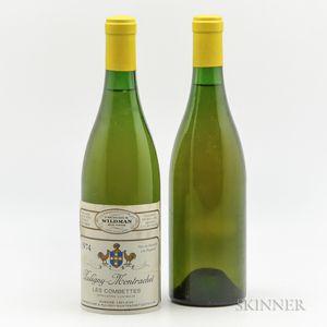 Leflaive Puligny Montrachet Les Combettes 1974, 2 bottles