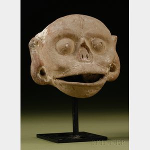Pre-Columbian Pottery Skull