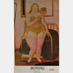 Fernando Botero (Columbian, b. 1932)      La Cama II   Botero Poster