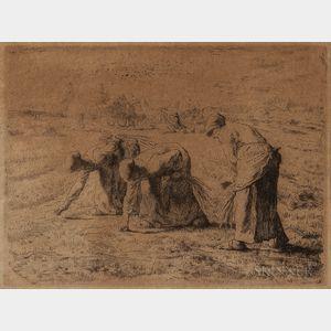 Jean François Millet (French, 1814-1875)      Les glaneuses