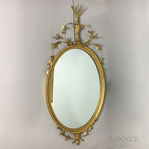 Pair of Friedman Bros. Neoclassical-style Gilt Composition Mirrors