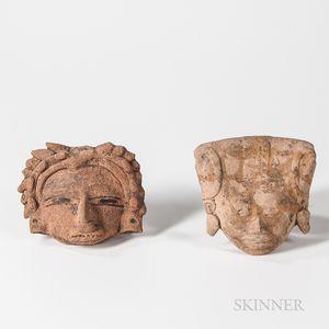 Two Veracruz Head Fragments