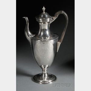 Large George III Sterling Silver Hot Water Pot