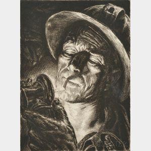 Irwin D. Hoffman (American, 1901-1989)      Cigarette Underground