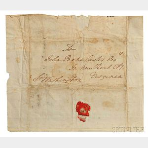 Washington, George (1732-1799) Autograph Free Frank, pre-1781.