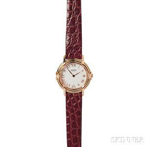 Lady's 18kt Gold Wristwatch, Hermes