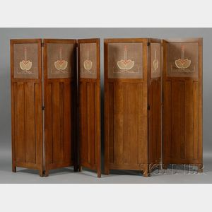 Pair of Arts & Crafts Style Screens