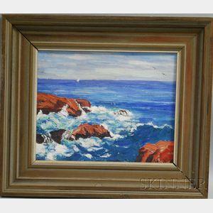 Henry Curtis Ahl, Jr. (American, 1905-1996)      Seascape