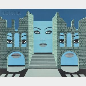 Félix Labisse (French, 1905-1982)      Untitled (Three Faces).
