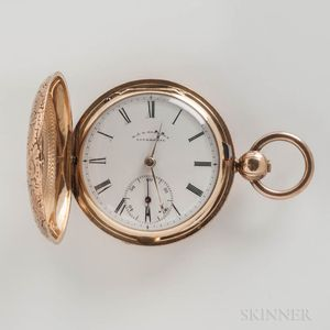 18kt Gold Liverpool Hunter-case Pocket Watch