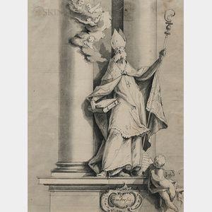 Attributed to Georg Christoph Günther (German, 1736-1777)      Saint Ambrose