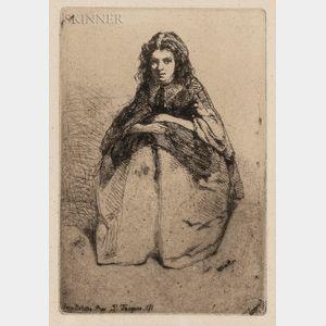 James Abbott McNeill Whistler (American, 1834-1903)      Fumette