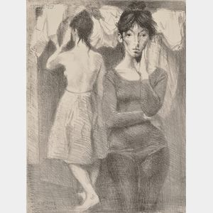 Raphael Soyer (American, 1899-1987)      Two Young Women