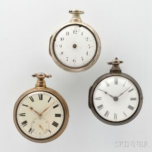 Three Silver Pair-cased English Watches
