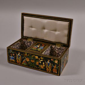 Decoupage-decorated Cribbage Board/Box