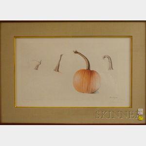 Alan Magee (American, b. 1947)      Pumpkin Stems