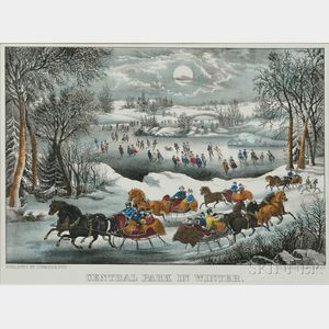 Currier & Ives, publishers (American, 1857-1907)       CENTRAL PARK IN WINTER