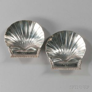 Two George III Shell-form Sterling Silver Dishes