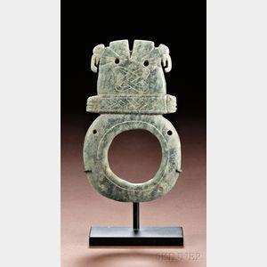 Pre-Columbian Carved Jade Pendant