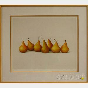 Alan Magee (American, b. 1947)      Seven Pears I