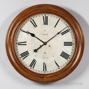 Large Ansonia Walnut Gallery Clock