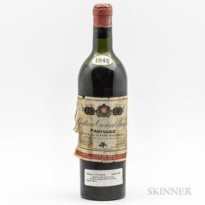 Chateau Croizet Bages 1945, 1 bottle