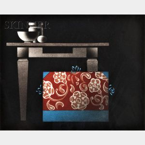 Mario Avati (French, 1921-2009)      Lot of Two Japanese-themed Still Lifes:  Le Japonais du Pere Sagot