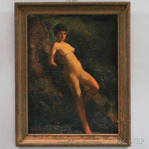 American School, 19th/20th Century      Portrait of a Female Nude.