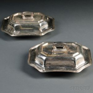 Two Towle Sterling Silver Covered Vegetable Dishes
