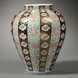 Famille Rose Jar with Gilt Decoration