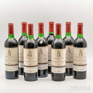 Chateau Latour 1975, 8 bottles